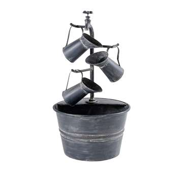 APOLINE Anthracite Grey Metal Outdoor Fountain