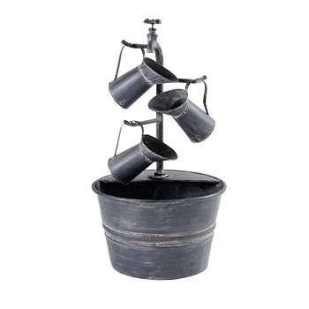 APOLINE Anthracite Grey Metal Outdoor Fountain