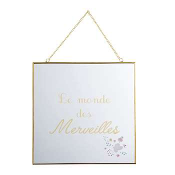 APOLLINE Printed Wall Mirror (25 x 25cm)