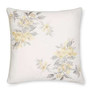 Apple Blossom Embroidered Sunshine Cushion (H45 x W45cm)