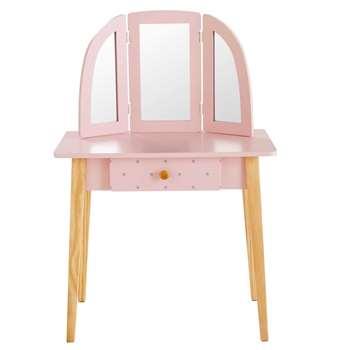 APRIL Children's Light Pink 1-Drawer Dressing Table (105 x 70cm)