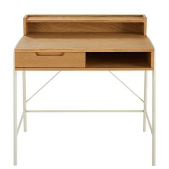 APRIL Two-Tone 1-Drawer Children's Desk (78 x 78cm)