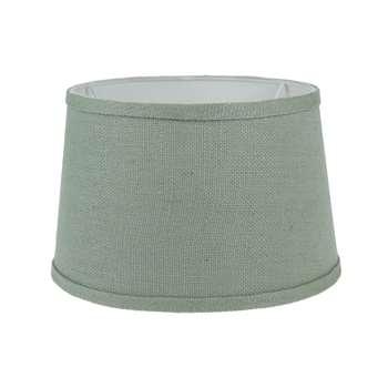 Aqua Linen Drum Shade - 10 (18 x 25cm)