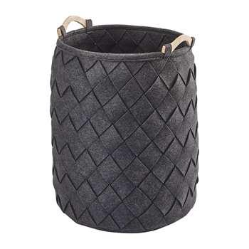 Aquanova - Amy Laundry Basket - Dark Grey (H60 x W40 x D40cm)