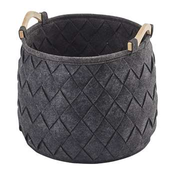 Aquanova - Amy Storage Basket - Dark Grey (H35 x W35 x D35cm)