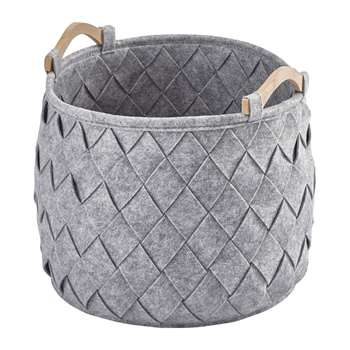 Aquanova - Amy Storage Basket - Silver Grey (H35 x W35 x D35cm)
