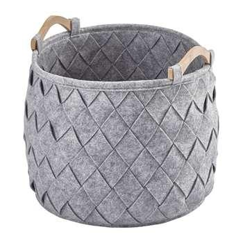 Aquanova - Amy Storage Basket - Silver Grey (H35 x W35 x D35cm)