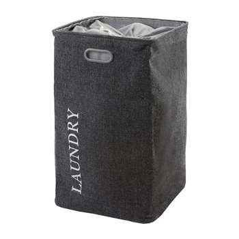 Aquanova - Evora Laundry Bin - Dark Grey (70 x 40cm)