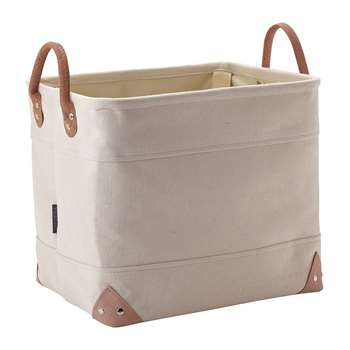 Aquanova - Lubin Storage Basket - Beige - Medium (H30 x W35 x D30cm)