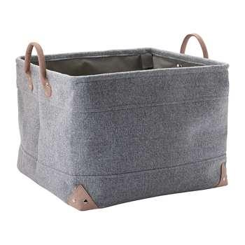 Aquanova - Lubin Storage Basket - Silver Grey - Large (H30 x W40 x D40cm)