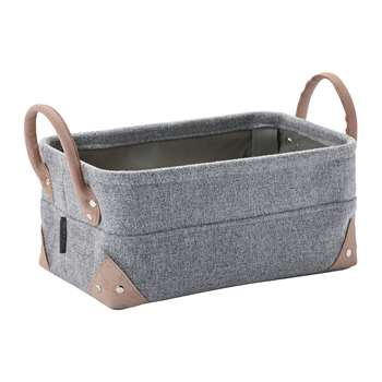 Aquanova - Lubin Storage Basket - Silver Grey - Small (H15 x W32 x D20cm)