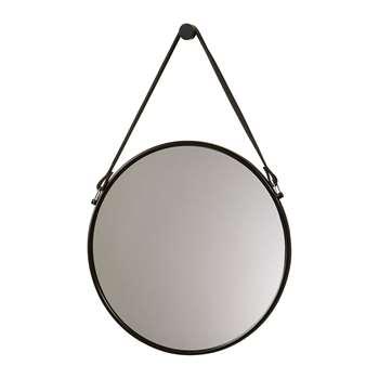 Aquanova - Thymo Mirror - Black (Diameter 47cm)