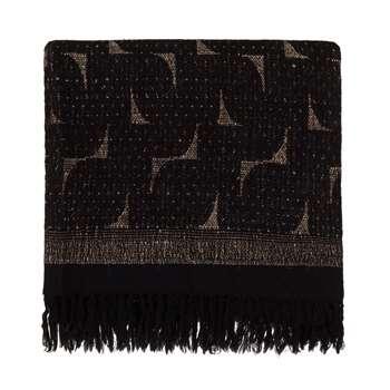 Araku Wool Blanket, Natural & Black (130 x 160cm)
