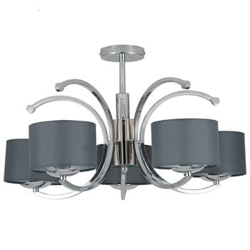 Arcadia 5 Light Ceiling Light Polished Chrome (H33 x W52 x D52cm)