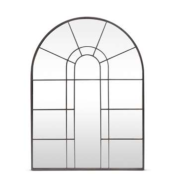 Arch Window Mirror, Black (95 x 70cm)
