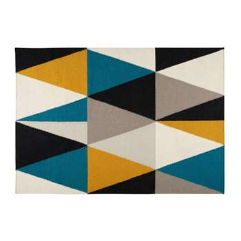 ARCHI rug with multicoloured triangle motifs (200 x 140cm)