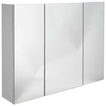Argos Home 3 Door Mirrored Bathroom Cabinet (H64 x W80 x D15.5cm)