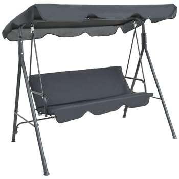 Argos Home 3 Seater Metal Garden Swing Chair (H150 x W176 x D113cm)