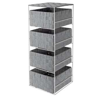 Argos Home 4 Drawer Storage Unit - Dove Grey (H60 x W22 x D23cm)