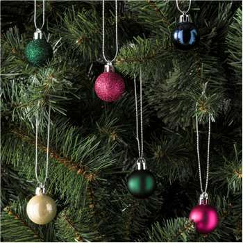 Argos Home 49 Pack Enchanted Christmas Baubles Multicoloured (H3 x W3cm)