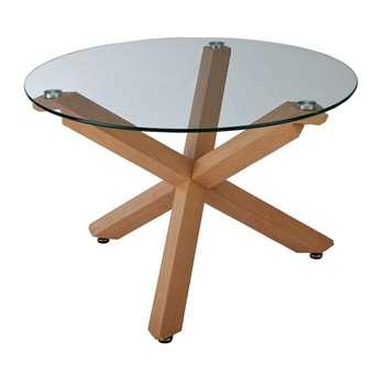Argos Home Alden Cross Leg Coffee Table - Glass (H45 x W70 x D70cm)