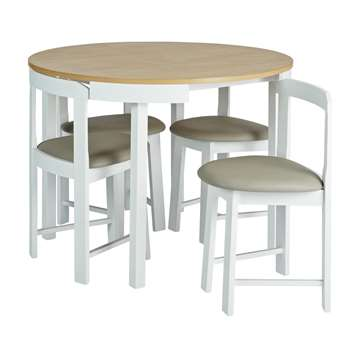 Argos Home Alena Solid Wood Space Saver Table - Two Tone