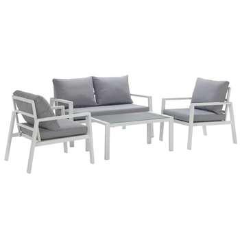 Argos Home Aluminium 4 Seater Sofa Set