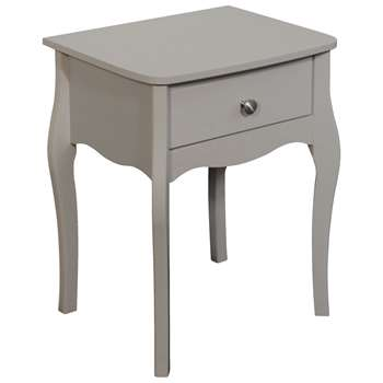 Argos Home Amelie 1 Drawer Bedside Table - Grey (H55 x W45 x D35.3cm)