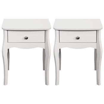 Argos Home Amelie 2 Bedside Chests - White (H55 x W45 x D35.3cm)
