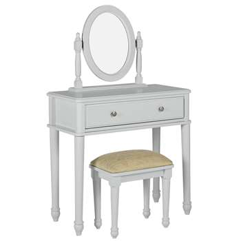 Argos Home Ashbourne Soft Grey Dressing Table (H139.5 x W85 x D40cm)