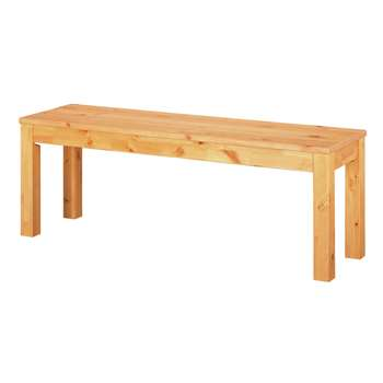 Argos Home Ashdon Solid Wood Bench - Oak Stain (H45 x W125 x D35cm)