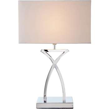 Argos Home Ashley Sculptural Table Light - Chrome (H45 x W29 x D16cm)