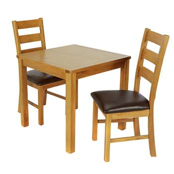 Argos Home Ashwell Dining Table 2 Farmhouse Chairs