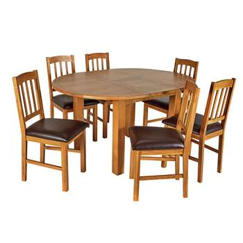 Argos Home Ashwell Extendable Table & 6 Chairs