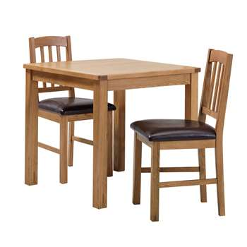 Argos Home Ashwell Oak Veneer Dining Table & 2 Chairs