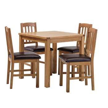 Argos Home Ashwell Oak Veneer Table 4 Chairs