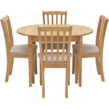Argos Home Banbury Extendable Table & 4 Chairs - Natural