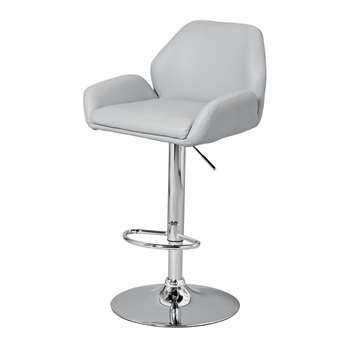 Argos Home Barber Gas Lift Barstool - Grey (H111 x W51 x D52.5cm)