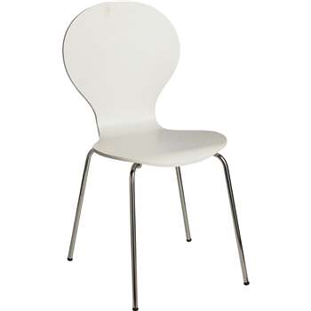 Argos Home Bentwood Dining Chair - Super White (H87 x W46 x D54cm)
