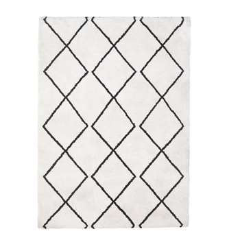 Argos Home Berber Supersoft Rug - White (H120 x W170cm)