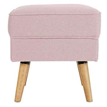Argos Home Callie Fabric Footstool - Blush Pink (H46 x W45 x D45cm)