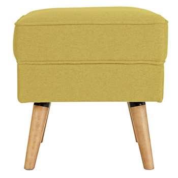 Argos Home Callie Fabric Footstool - Mustard Yellow (H46 x W45 x D45cm)