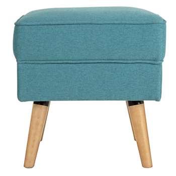 Argos Home Callie Fabric Footstool - Teal (H46 x W45 x D45cm)