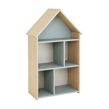 Argos Home Camden Blue & Acacia House Bookcase (H99.8 x W58.5 x D32.2cm)