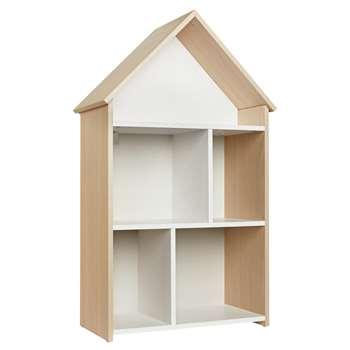 Argos Home Camden White & Acacia House Bookcase (H99.8 x W58.5 x D32.2cm)