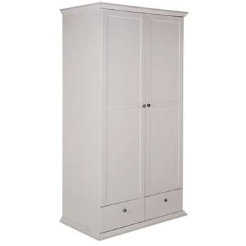 Argos Home Canterbury 2 Door 2 Drawer Wardrobe - White (H202 x W104 x D63cm)
