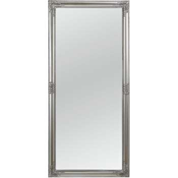 Argos Home Charlotte Rec Ornate Leaning Mirror - Silver (H160 x W72 x D8.2cm)