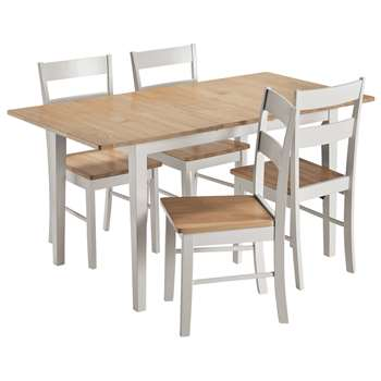 Argos Home Chicago Extendable Solid Wood Table 4 Chairs