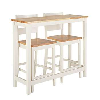 Argos Home Chicago Solid Wood Bar Table 2 Stools