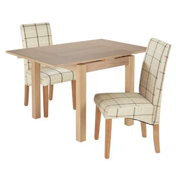 Argos Home Clifton Extendable Table 2 Chairs - Cream Check